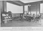 Refining and Christian influence; The reading room in the Y.M.C.A. Washington, D.C.; the young men are studious and deeply interested in their educational and Christian work