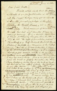 Letter from Samuel May, Leicester, Mass, to Richard Davis Webb, June 11, 1860