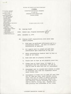 COBRA Memorandum, November 2, 1979