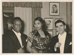 Conductor Dean Dixon, contralto Marian Anderson and classical pianist Abbey Simon in Stockholm, Sweden