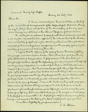 Facsimile reproduction of letter signed J. Q. Adams, Quincy, to Edmund Quincy, Boston, July 28, 1838