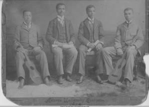 Photograph of the Atlanta University Quartet, Atlanta, Georgia, 1894
