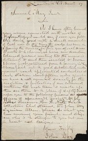Letter to] Sir [manuscript