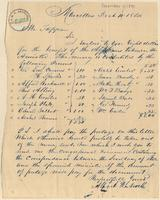Letter from Alfred Rockwell to Lewis Tappan
