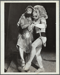 Man and lion, dancing