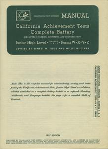 California tests, grade 7-adult