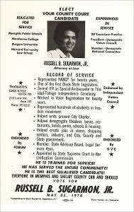 Flyer to Elect Russell B. Sugarmon, Jr. to County Court