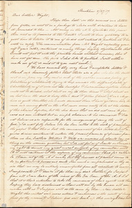 Letter from Sarah Moore Grimkè, Brookline, [Massachusetts], to Henry Clark Wright, 1837 August 27