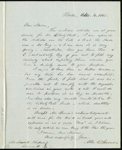 Letter from Allen C. Spooner, Boston, [Mass.], to Maria Weston Chapman, Nov. 4, 1845