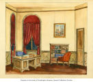 Set design by Blanche Morgan for an unknown Seattle Negro Repertory production, Seattle, ca. 1938