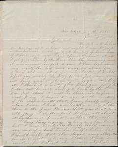 Incomplete letter from Deborah Weston, New Bedford, [Mass.], to Anne Warren Weston, Jan. 22, 1836, Sunday evening [through Jan. 25, 1836]