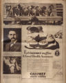 Photomontage of dogs, a retired postal worker, a little boy, and an ad. Nashville Tennessean, 1928 October 7.