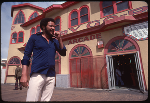 Bill Withers: Withers walking outside the Looff Hippodrome on the Santa Monica Pier
