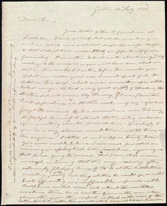 Letter from Amos Farnsworth, Groton, [Mass.], to Anne Warren Weston, 30 Aug. 1838