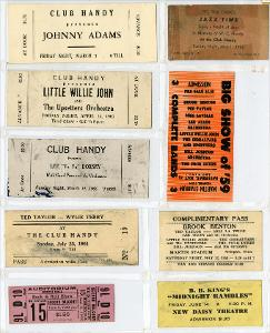 Beale Street and Club Handy Tickets page 2, 1959-1962