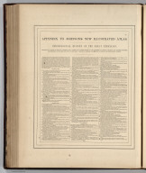 (Text Page) Appendix to Johnson's New Illustrated Atlas. Chronological History of the Great Rebellion (American Civil War). Showing at a Glance its Rise and Progress, and a Correct and Concise Account of the Victories and Defeats, Triumphs and Disasters, Successes and Reverses, of the Army and Navy of the Union. Carefully Compiled from the Most Authentic and Trustworthy Sources Johnson's New Illustrated (Steel Plate) Family Atlas, With Physical Geography, And With Descriptions Geographical, Statistical, And Historical ... By Richard Swainson Fisher, M.D. ... Maps Compiled, Drawn, And Engraved Under The Supervision Of J.H. Colton And A.J. Johnson. New York: Johnson And Ward, Successors To Johnson And Browning (Successors To J.H. Colton And Company,) No. 113 Fulton Street. 1865. Entered ... One Thousand Eight Hundred and Sixty-four, by A.J. Johnson ... New York Text Page 103: Chronology of the American Civil War. (Start)