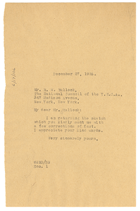 Letter from W. E. B. Du Bois to National Council of the Young Men's Christian Associations of the United States of America