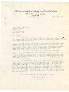 Letter from John S. Brown, Jr. to W. E. B. Du Bois
