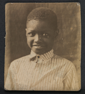 Photographic print of a young boy
