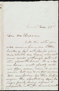 Letter from Sarah H. Pillsbury, Concord, [NH], to Maria Weston Chapman, Dec. 23rd, [1844]