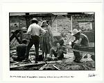 Building adobe house at New Buffalo Commune. Arroyo Hondo, NM 1967