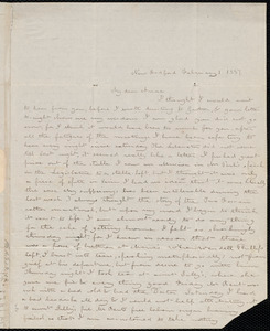 Letter from Deborah Weston, New Bedford, [Mass.], to Anne Warren Weston, February 1, 1837