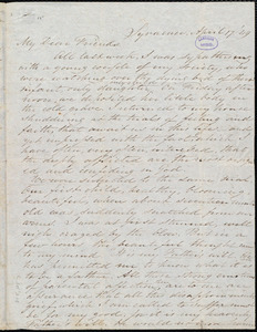 Letter from Samuel Joseph May, Syracuse, [N.Y.], to William Lloyd Garrison, April 17. [18]49