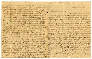[Letter from Maud Fentress, October 10,1863] The David W. Fentress Family Letters, 1856-1969