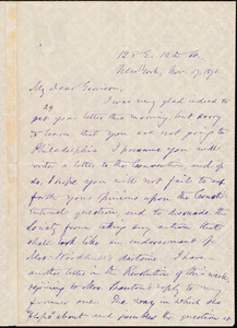 Letter from Oliver Johnson, New York, [N.Y.], to William Lloyd Garrison, Nov[ember] 17, 1871