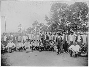 [African American] men called in the draft from Eldorado, Arkansas.
