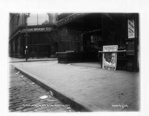 Sidewalk at 474 Washington St., east side Washington St., Boston, Mass., November 27, 1904