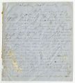 Letter by William Cox from Pulaski, Scott County, Mississippi, to Ziba Oakes