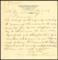Letter from Josephine A. Pearson to Governor Albert H. Roberts