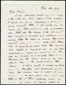 Letter from James Miller M'Kim, Phil[adelphia], [Penn.], to Maria Weston Chapman, Oct. 19 / [18]43