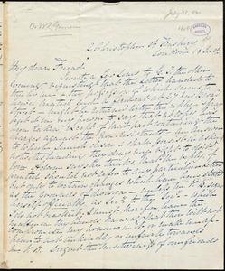 Letter from Elizabeth Pease Nichol, London, [England], to William Lloyd Garrison, 18 July [1840]
