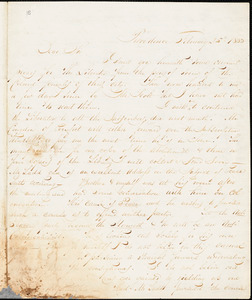 Letter from Henry Egbert Benson, Providence, [Rhode Island], to William Lloyd Garrison, 1833 February 25th