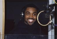 Money Ray of the Cold Crush Brothers recording a commercial for Funkmaster Flex, D&D Studios