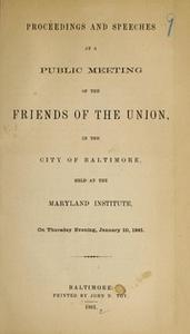 Proceedings and Speeches