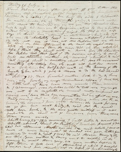 Letter from Mary Weston to Deborah Weston, Friday 26 July [1839?]