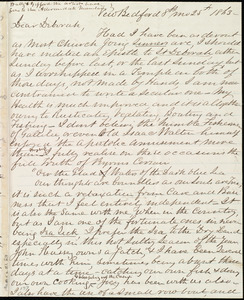 Letter from Joseph Ricketson, New Bedford, [Mass.], to Deborah Weston, 8th mo[nth] 25th [day] 1863