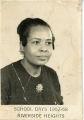 Riverside Heights High School, Geneva, Alabama, teacher Celeste Holt, 1957-1958