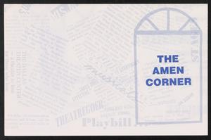 Flyer: The Amen Corner The Amen Corner - James Baldwin - Play