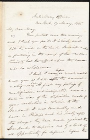 Letter to] My Dear May [manuscript