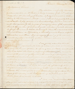 Letter from James Forten, Philad[elphi]a, [Pennsylvania], to William Lloyd Garrison, 1831 February 23d