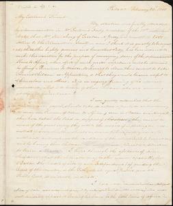 Thumbnail for Letter from James Forten, Philad[elphi]a, [Pennsylvania], to William Lloyd Garrison, 1831 February 23d