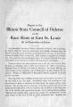 Report to the Illinois State Council of Defense on the race riots at East St. Louis