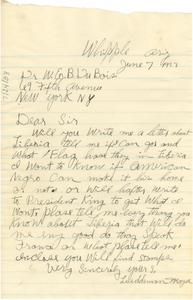 Letter from Lueddeman Mayse to W. E. B. Du Bois