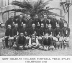 New Orleans College football team, State champions 1920