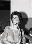 California African-American Museum event speaker Aurelia Brooks, Los Angeles, 1984