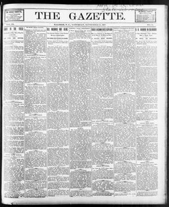 The Gazette. (Raleigh, N.C.), Vol. 9, No. 31, Ed. 1 Saturday, September 18, 1897 The Gazette The Weekly Gazette